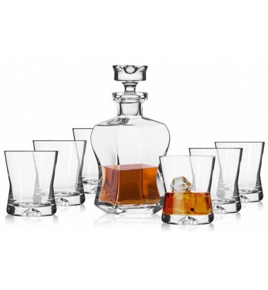 KROSNO SIGNATURE Komplet do whisky karafka 500 ml + szklanki 290 ml / 7 el / szkło najwyższej jakości