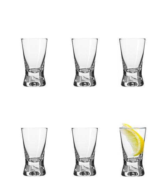 KROSNO BASIC SHOT Komplet kieliszków do wódki 6 el / 25 ml / szkło wysokiej jakości
