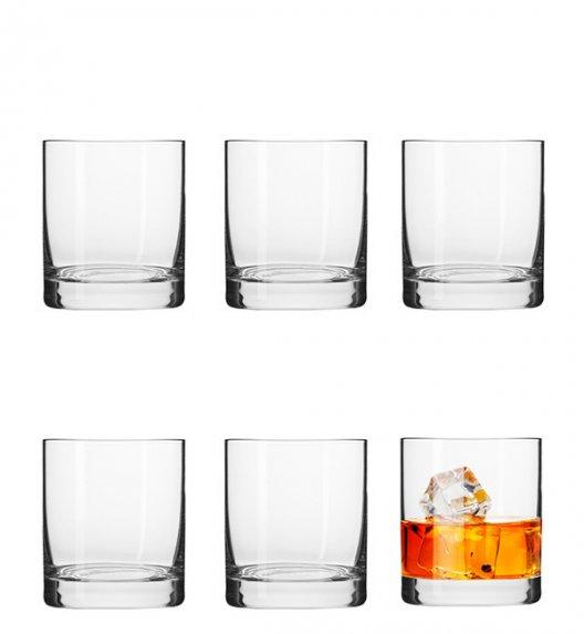 KROSNO BASIC Komplet szklanek do whisky 6 el / 250 ml / szkło najwyższej jakości