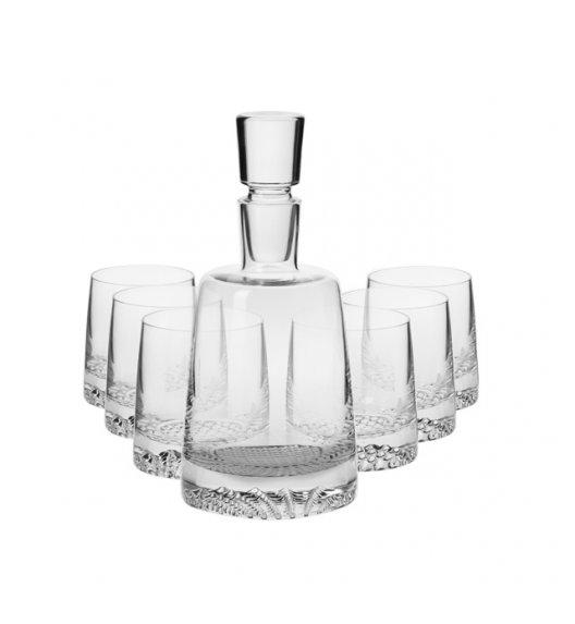 KROSNO FJORD Komplet do whisky karafka 950 ml + 6 szklanek 300 ml / 7 el / ręcznie formowane / szkło najwyższej jakości