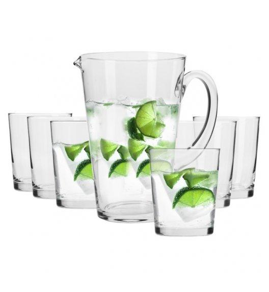KROSNO BREEZE Komplet do wody dzbanek 1 L + 6 szklanek 250 ml / 7 el / ręcznie formowane / szkło najwyższej jakości