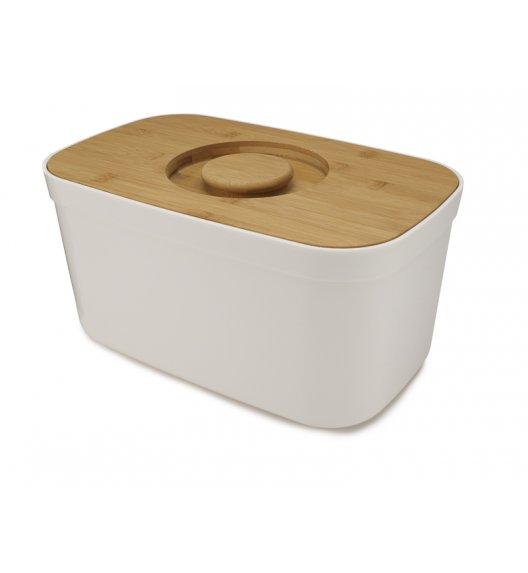 JOSEPH JOSEPH Chlebak z deską 35,5 cm / 2w1 / drewno bambusowe / biały / Btrzy