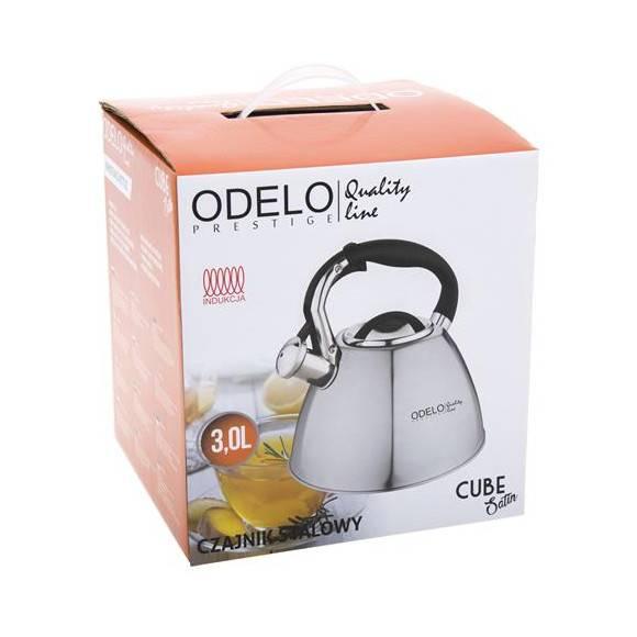 ODELO CUBE Czajnik z gwizdkiem 3L / Stal nierdzewna / Indukcja / OD1565