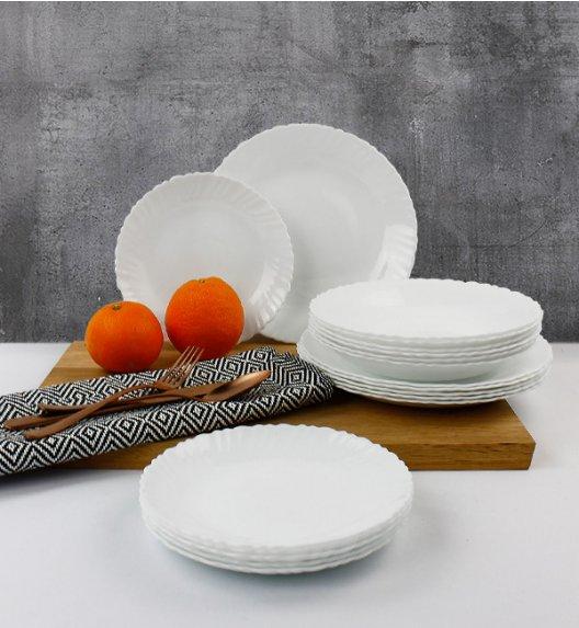 WYPRZEDAŻ! LUMINARC OPAL MUSZELKA Serwis obiadowy 18 elementów dla 6 osób  / szkło / Domino