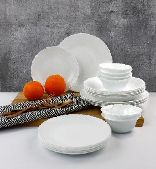 WYPRZEDAŻ! LUMINARC OPAL MUSZELKA Serwis obiadowy 42 elementy dla 12 osób  / szkło / Domino