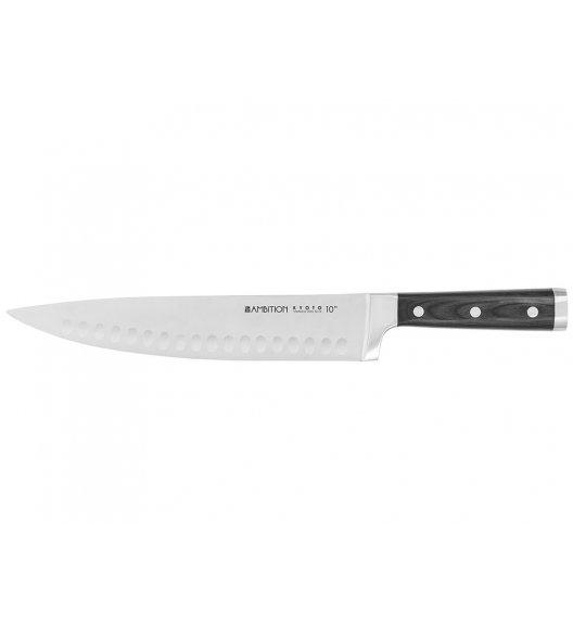 AMBITION KYOTO Nóż szefa kuchni z przetłoczeniami 25 cm / drewniana rękojeść / 20487