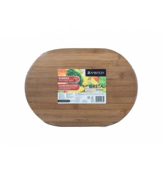 AMBITION GRETA Deska owalna do krojenia z silikonowymi nóżkami 33 x 23 x 2 cm / brązowa / 29275