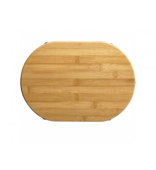 AMBITION GRETA Deska owalna do krojenia z silikonowymi nóżkami 33 x 23 cm / brązowa / 29281