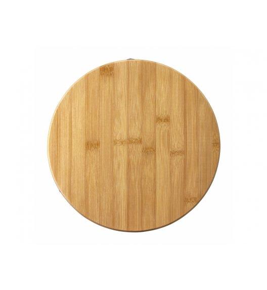 AMBITION GRETA Okrągła deska do krojenia z silikonowymi nóżkami 27 x 2 cm / brązowa / 29283