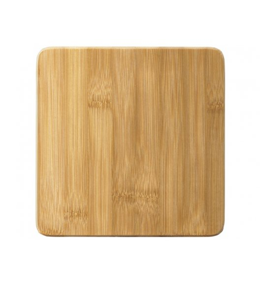 AMBITION GRETA Kwadratowa deska do krojenia z silikonowymi nóżkami 17 x 1,8 cm / brązowa / 29284