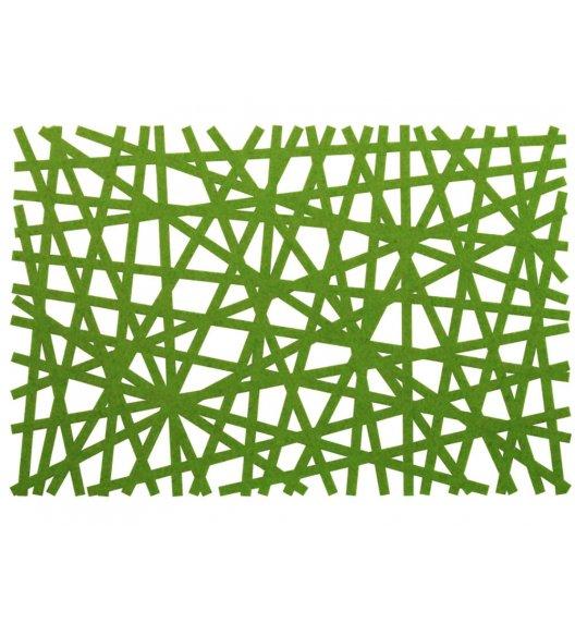 AMBITION PRETTY Mata stołowa 30 x 45 cm / prostokątna / filc / zielona / 89102