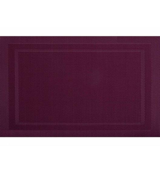 AMBITION VELVET Mata stołowa 30 x 45 cm / prostokątna / wiśniowa / 21263