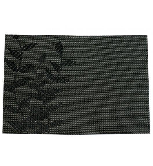 AMBITION VELVET Mata stołowa 30 x 45 cm / prostokątna / liść / brązowa / 36418