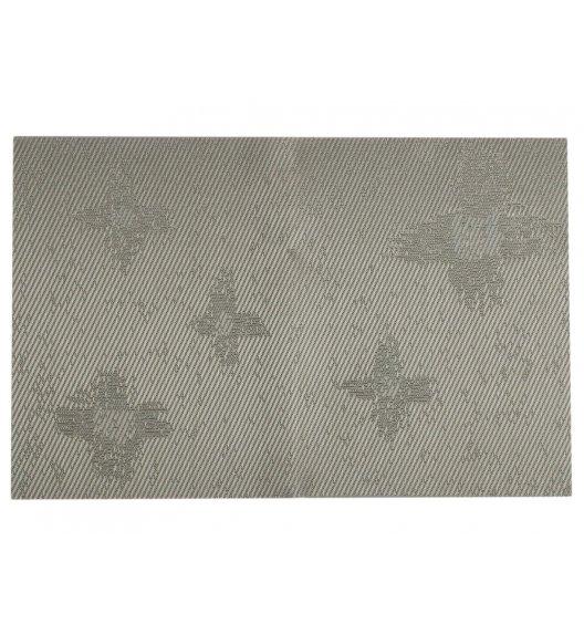 AMBITION VELVET Mata stołowa 30 x 45 cm / prostokątna / szary / gwiazdy / 37024