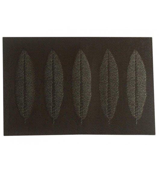 AMBITION VELVET Mata stołowa 30 x 45 cm / prostokątna / brązowy / liście / 37026