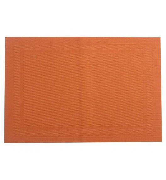 AMBITION VELVET Mata stołowa 30 x 45 cm / prostokątna / orange / liście / 37032