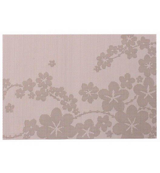 AMBITION DREAM Mata stołowa 30 x 45 cm / prostokątna / różowa / kwiaty / 37039