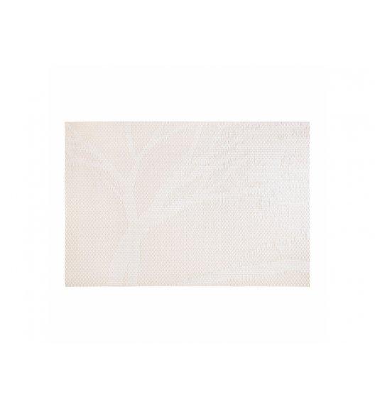 AMBITION VELVET Mata stołowa 30 x 45 cm / prostokątna / beżowa / drzewo / 37060