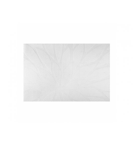 AMBITION VELVET Mata stołowa 30 x 45 cm / prostokątna / biała / 37083