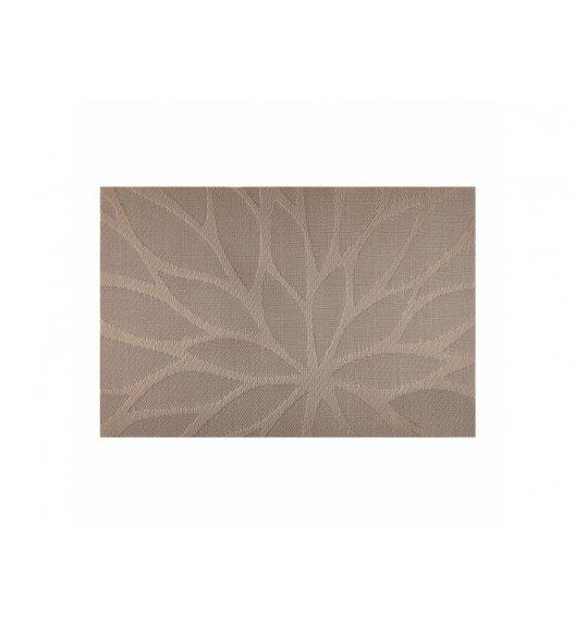 AMBITION VELVET Mata stołowa 30 x 45 cm / prostokątna / brązowa / 37085