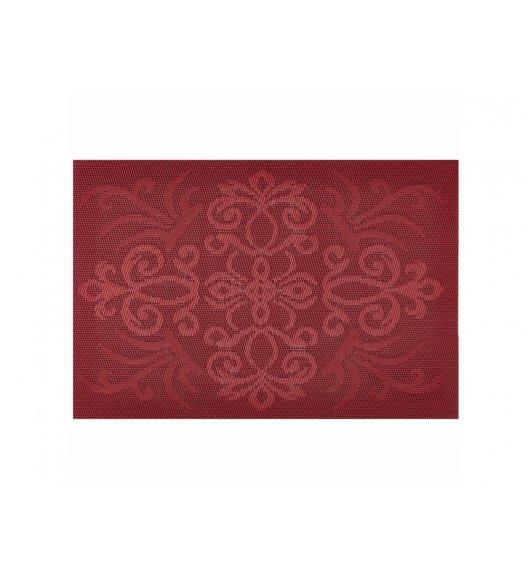AMBITION GLAMOUR Mata stołowa 30 x 45 cm / prostokątna / czerwona / 37087