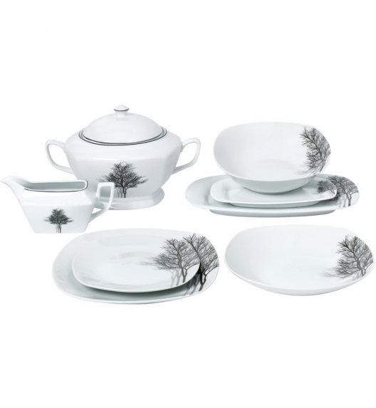 TADAR ZIMA Serwis obiadowy 43 elementy dla 12 osób / porcelana
