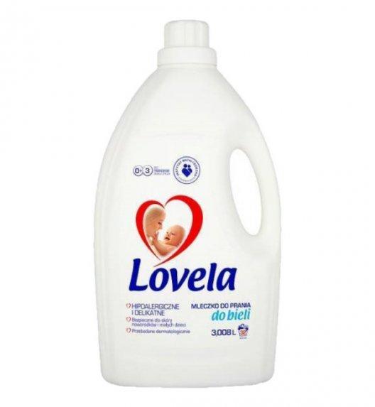 LOVELA Hipoalergiczne mleczko do prania białego 3 L / 32 prania