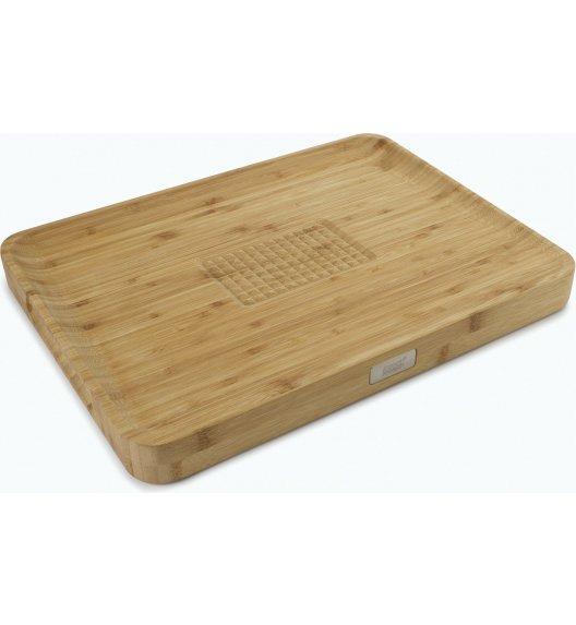 JOSEPH JOSEPH Cut&Carve Duża deska do krojenia 40 cm / brązowa / drewno bambusowe / Btrzy