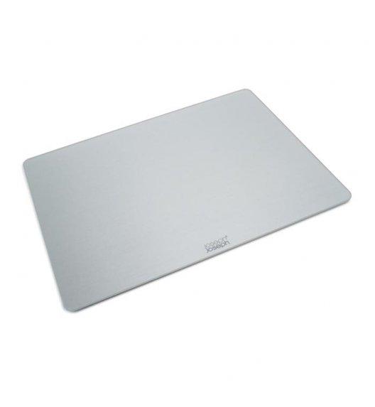 JOSEPH JOSEPH Prostokątna deska do krojenia 40 x 30 cm / srebrna / szkło / Btrzy