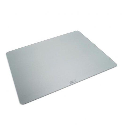 JOSEPH JOSEPH Prostokątna deska do krojenia 40 x 50 cm / srebrna / szkło / Btrzy