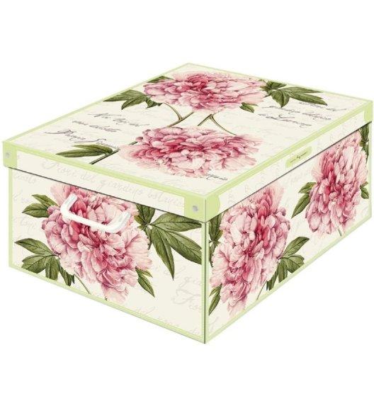 LAVATELLI PIWONIE Pudełko ozdobne do przechowywania 39 x 50 cm / Wyprodukowano we Włoszech / KAMAI