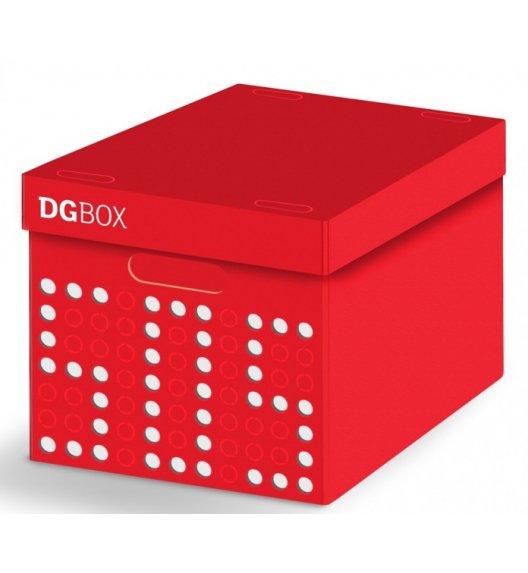 LAVATELLI DGBOX Czerwone pudełko ozdobne do przechowywania 32 x 42 cm / stwórz własny wzór / KAMAI