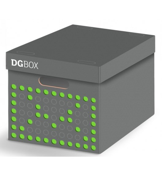 LAVATELLI DGBOX Szare pudełko ozdobne do przechowywania 32 x 42 cm / stwórz własny wzór / KAMAI