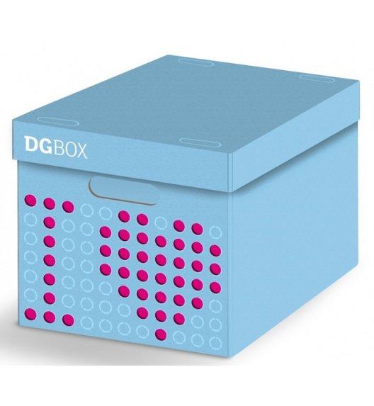 LAVATELLI DGBOX Niebieskie pudełko ozdobne do przechowywania 32 x 42 cm / stwórz własny wzór / KAMAI