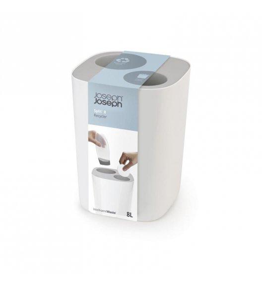 JOSEPH JOSEPH SPLIT Kosz łazienkowy do segregacji odpadów 8 L / szary / tworzywo sztuczne / Btrzy