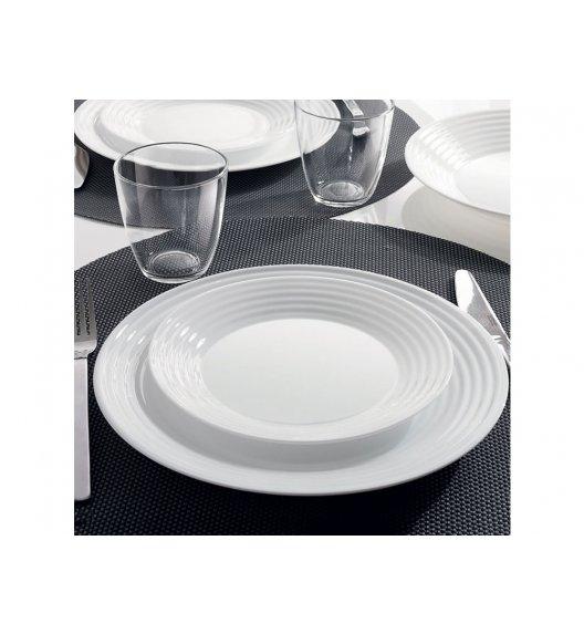 LUMINARC HARENA Komplet obiadowy 24 el dla 6 os / Wyprodukowane we Francji / Szkło hartowane / 00246