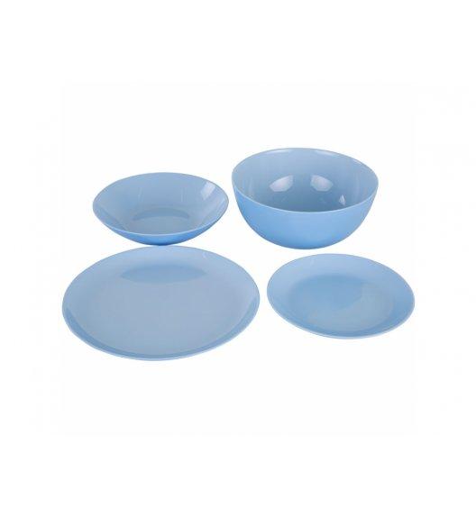 LUMINARC DIWALI LIGHT BLUE Komplet obiadowy 19 el dla 6 os / Wyprodukowane we Francji / Szkło hartowane / 00444