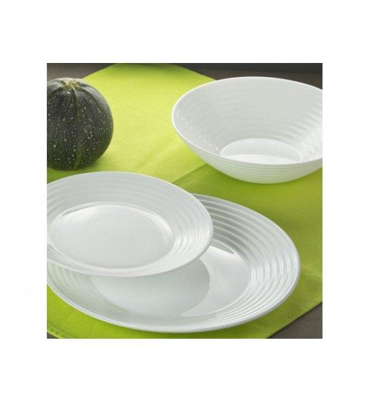 LUMINARC HARENA Komplet obiadowy 19 el dla 6 os biały / Wyprodukowane we Francji / Szkło hartowane / 00254