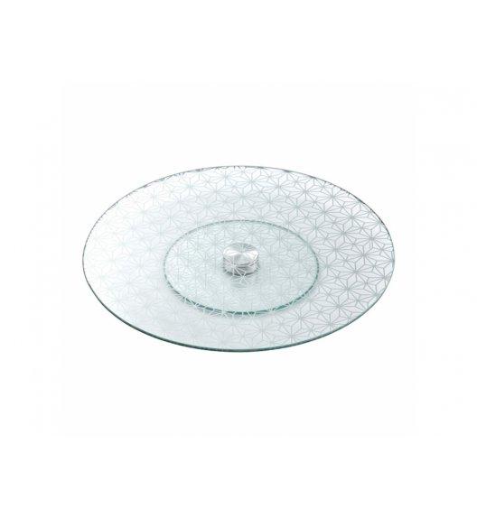 AMBITION SKYLINE Okrągła patera obrotowa Ø30 cm / szkło / geometryczny wzór / 62117