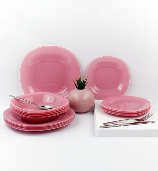 LUMINARC COLORAMA PINK Serwis obiadowy 18 elementów dla 6 osób  / szkło / Domino