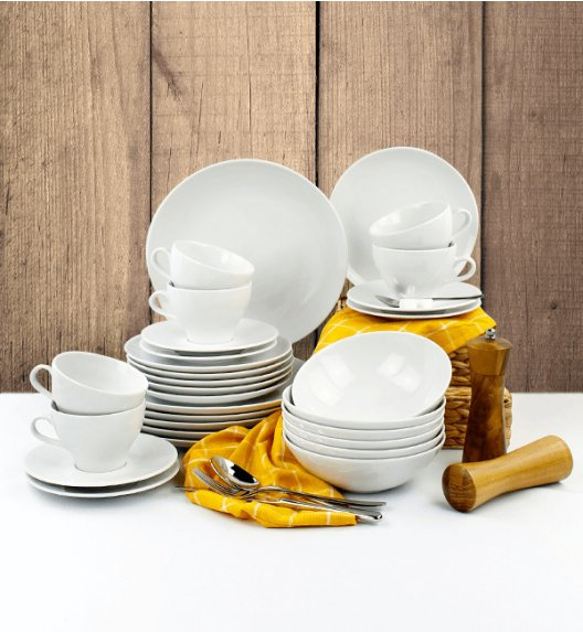 LUBIANA BOSS Serwis obiadowo - kawowy 30 el / 6 osób / porcelana