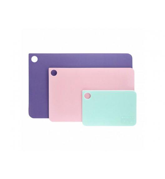 AMBITION GARDEN Komplet 3 prostokątnych desek do krojenia / mix kolorów / tworzywo sztuczne / 99960
