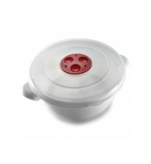 AMBITION SMART Garnek do kuchenki mikrofalowej 1,0 L / biało-czerwony / tworzywo sztuczne / 699356