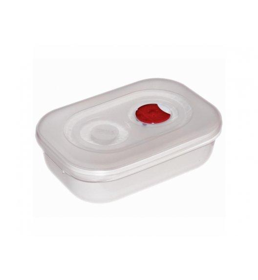 AMBITION SMART Garnek do kuchenki mikrofalowej 0,9 L / biało-czerwony / tworzywo sztuczne / 699368