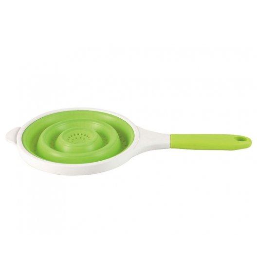 AMBITION DELICE Silikonowy cedzak 20 cm / zielony / tworzywo sztuczne / 99189