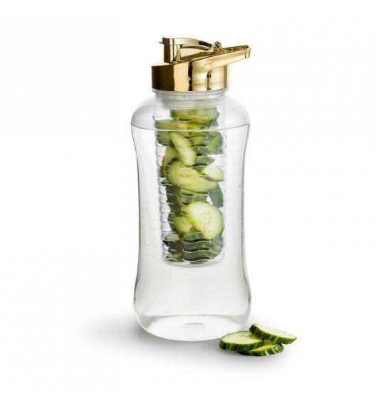 WYPRZEDAŻ! SAGAFORM FRESH Złota butelka z dużym pojemnikiem na lód lub owoce 1,8 l / FreeForm