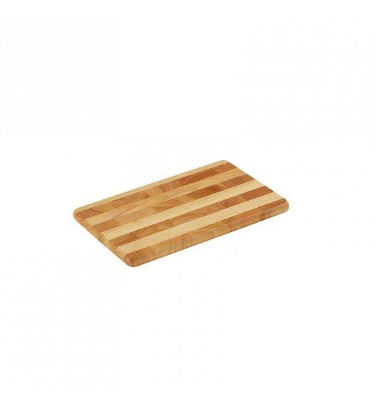 WYPRZEDAŻ! ZASSENHAUS Deska do krojenia typu end grain z drewna kauczukowego / 33 × 21 cm / FreeForm