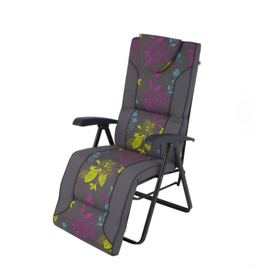PATIO MIJAS PLUS Fotel / krzesło ogrodowe z podnóżkiem / L115-06PB