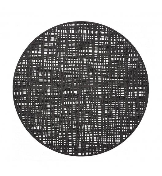 ZELLER SCRIBBLE Okrągła podkładka PCV na stół ø 38 cm / czarna