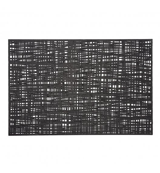 ZELLER SCRIBBLE Prostokątna podkładka PCV na stół 30 x 45 cm / czarna